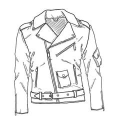 Sketch motorcycle jacket vector