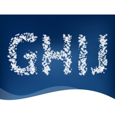 Snow letters for winter design vector image