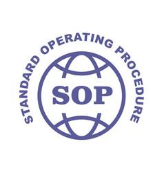Sop stamp - standard operating procedure emblem vector