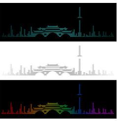 sound graph style chengdu skyline vector image