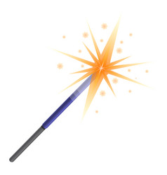 Sparkler icon cartoon style vector