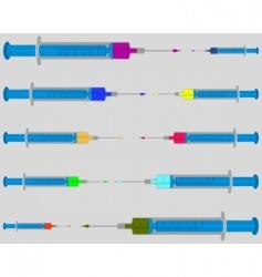 syringe set vector image