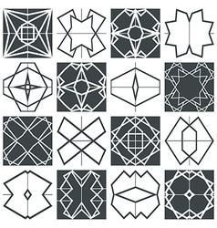 Tile seamless patterns vector