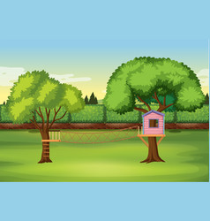 tree house in the nature park vector image