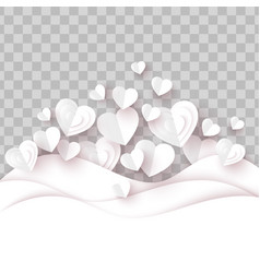 valentine day background white paper heart vector image