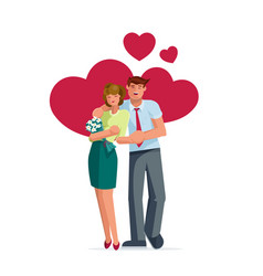 valentines day couple pose vector image