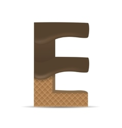 Wafer E letter vector image