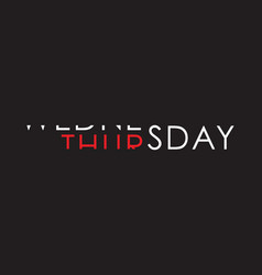 Wednesday to thursday turning text vector