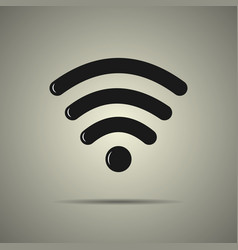 wi-fi icon black and white vector image