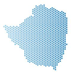 Zimbabwe map hex-tile scheme vector