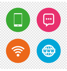 communication icons smartphone and chat bubble vector image