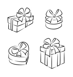 Gift boxes icons vector image vector image
