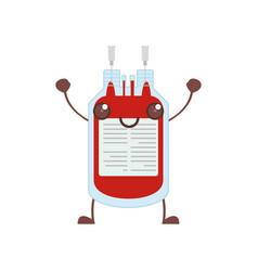 kawaii bag blood healthy vector image