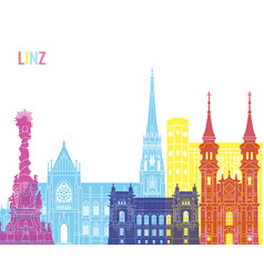 linz skyline pop vector image