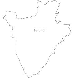 Black White Burundi Outline Map vector image vector image