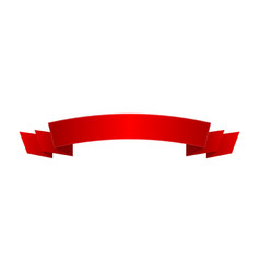 bright red shiny ribbon isolated icon vector image vector image