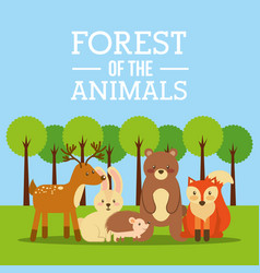 forest of the animals vector image