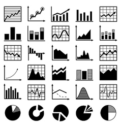 Set of diagrams and graphs vector image vector image