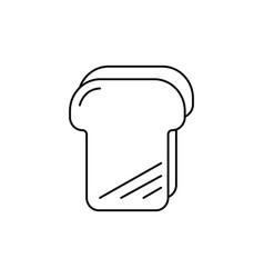 bread toast line icon sign vector image