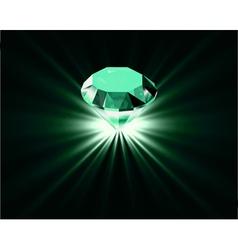 Bright diamond vector image vector image