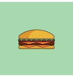 Cute icon cheeseburger vector image vector image