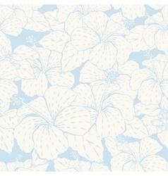 Elegance seamless pastel flower pattern vector image