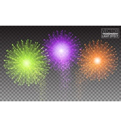 Festive Brightly Colorful Fireworks and Salute vector image vector image