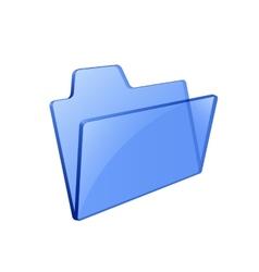 Glass glossy folder vector image vector image