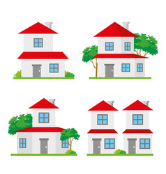 house home family building architecture vector image