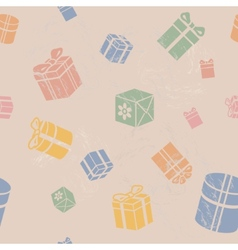 Seamless Gift box pattern vintage vector image vector image