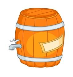 cartoon home kitchen barrel vector image vector image