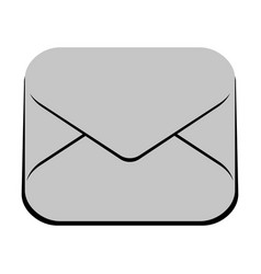 isolated mail icon vector image
