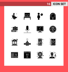 16 creative icons modern signs and symbols vector
