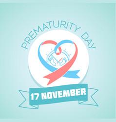 17 november prematurity day vector