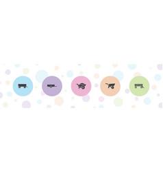 5 barrow icons vector