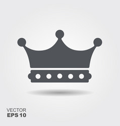 A crown in flat design style vector