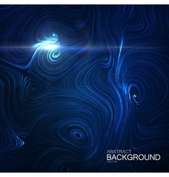 Abstract artistic curl background with swirled vector