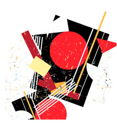 abstract avant-garde pattern with geometry vector image