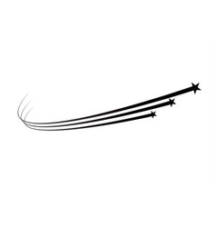 Abstract falling star - black shooting star vector
