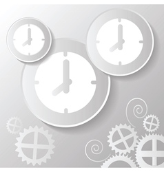 abstract paper clock vector image