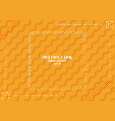 Abstract yellow background dashed line design vector