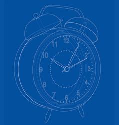 alarm clock sketch vector image