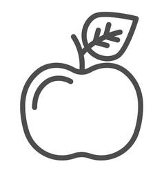 apple line icon fruit vector image