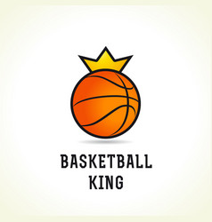 basketball king logo vector image