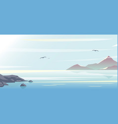 beautiful blue sea sky vector image