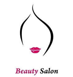 beauty salon icon vector image
