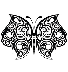 Black butterfly vector