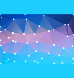 Blue shades pink geometric background with lights vector