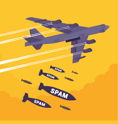 bomber and spam bombing vector image