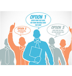 businessman option template step ranking orange 5 vector image